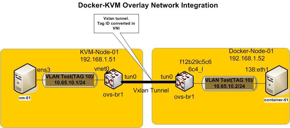 KVM Docker Overlay Network